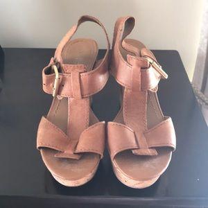 Franco Sarto Shoes - Franco Sarto Camel Platform Heeled Sandals Sz 6.5